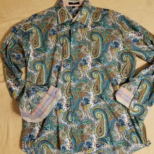 Mens Button down paisley shirt